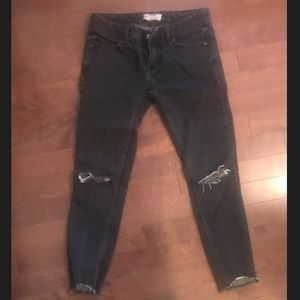Free People Black Ankle Length Jeans